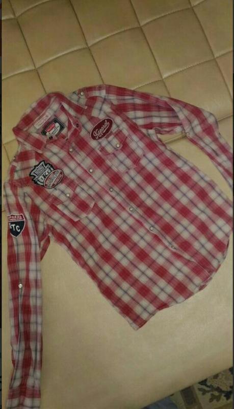 Рубашка kaporal five motorcucer в красную клету размер м