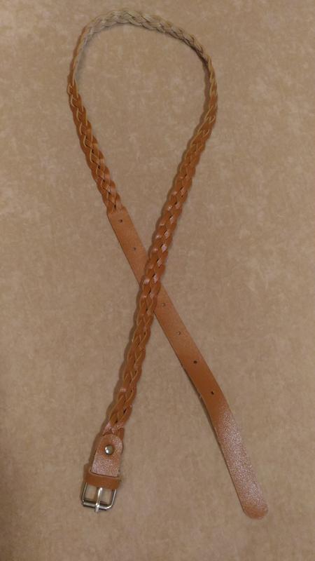 Тонкий пояс с переплетением, светло-коричневый