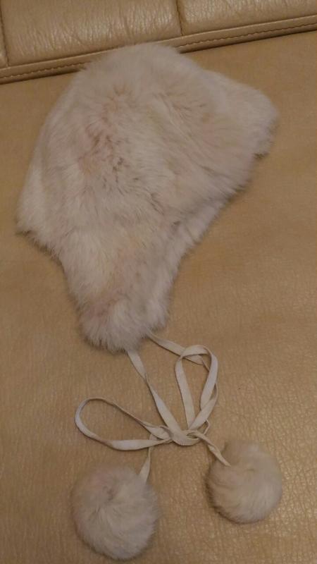 Детская меховая шапочка, кролик, 4-5лет