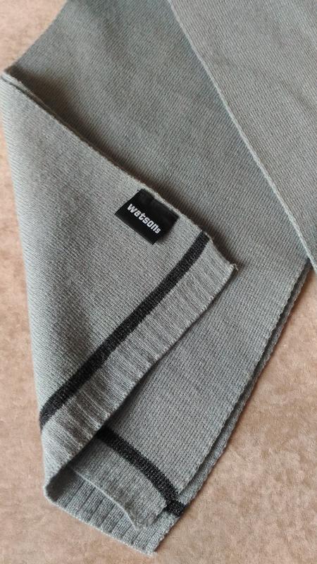 Тёплый мужской шарф watsons серого цвета