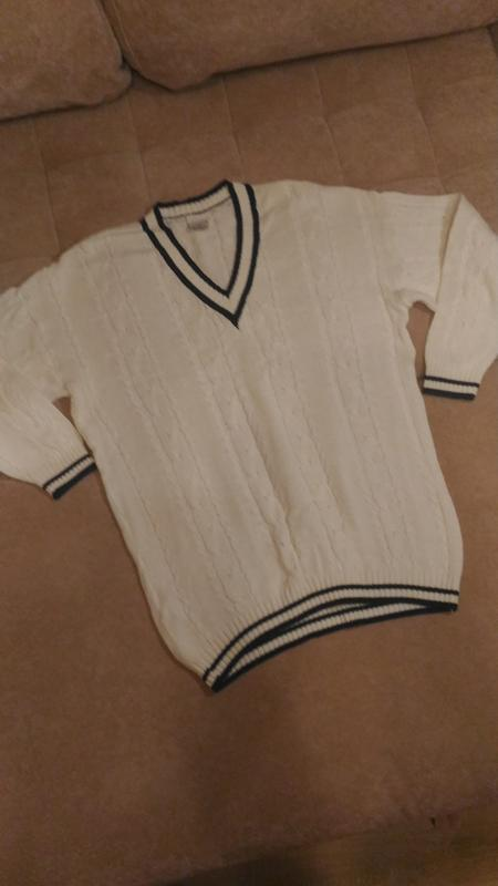 Белый мужской свитер, р.xl