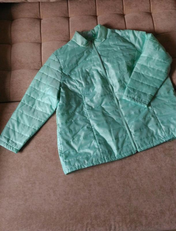 Лёгкая демисезонная куртка нежного ментолового цвета, франция,...