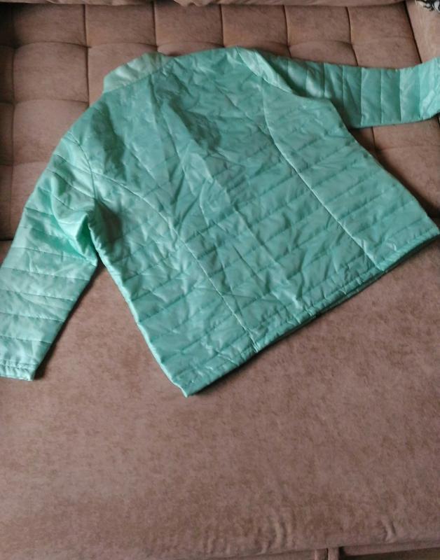 Лёгкая демисезонная куртка нежного ментолового цвета, франция,... - Фото 3