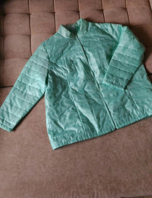 Лёгкая демисезонная куртка нежного ментолового цвета, франция,... - Фото 4