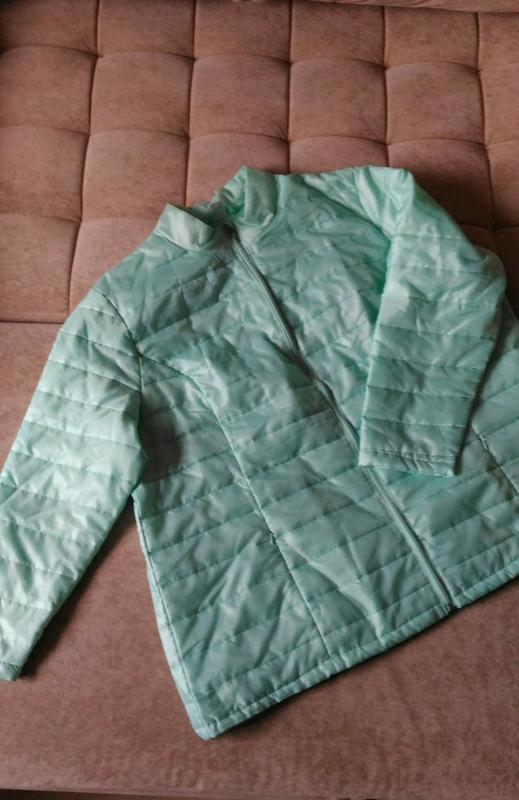 Лёгкая демисезонная куртка нежного ментолового цвета, франция,... - Фото 5