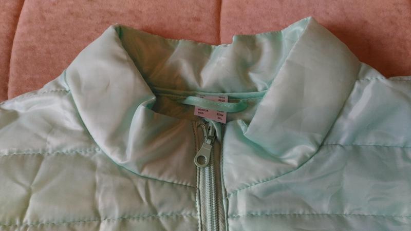 Лёгкая демисезонная куртка нежного ментолового цвета, франция,... - Фото 7