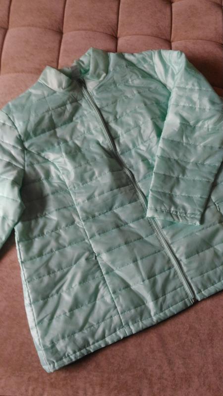 Лёгкая демисезонная куртка нежного ментолового цвета, франция,... - Фото 9