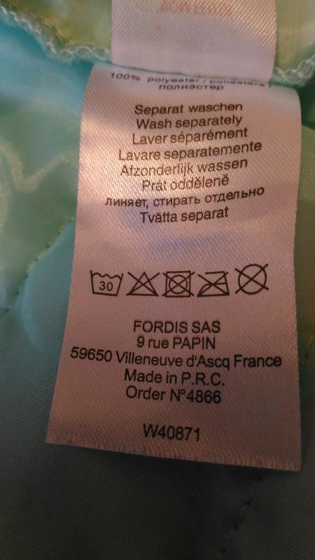 Лёгкая демисезонная куртка нежного ментолового цвета, франция,... - Фото 10