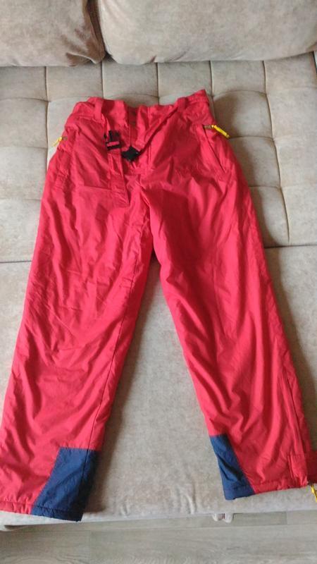 Горнолыжные зимние брюки, утеплённые, р.xl