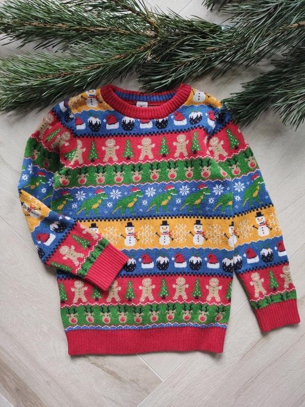 Детский новогодний свитер от tu (65), 5-6 лет