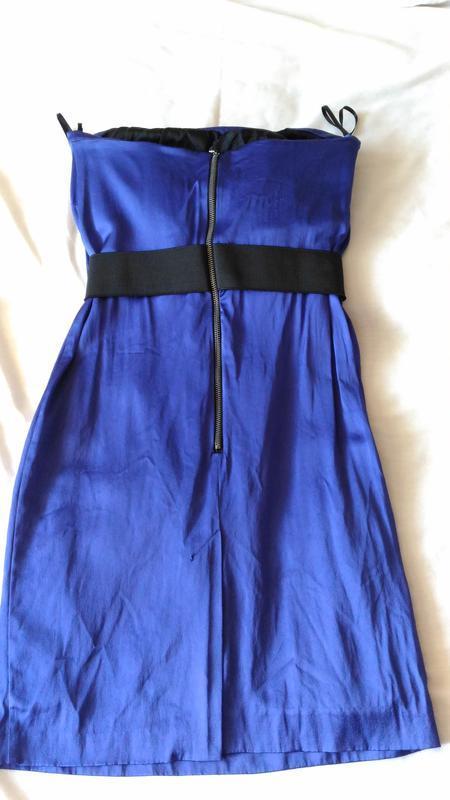 Вечернее платье цвета ультрамарин на выпускной, р.10 - Фото 2