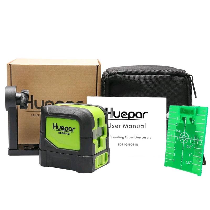 Huepar 9011G лазерный уровень зелёный луч
