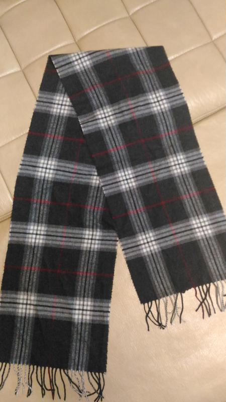 Тёплый шарф в клетку