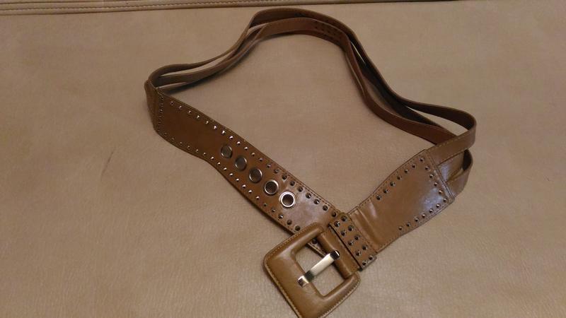 Пояс для верхней одежды, бежевый, светло-коричневый