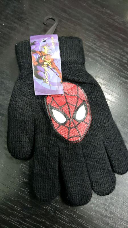 Перчатки для мальчика с человеком пауком 3-6 лет