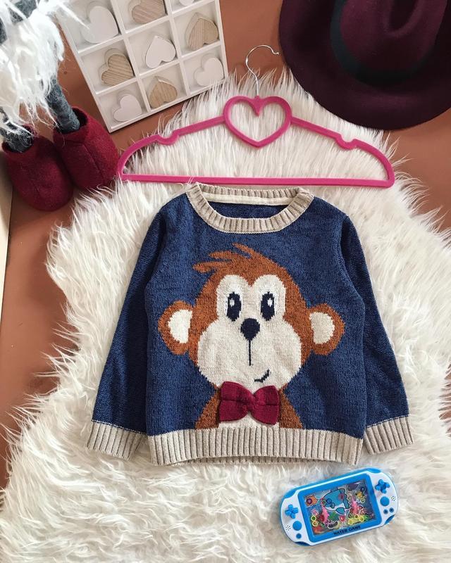 Детский свитер с обезьянкой ???? ????