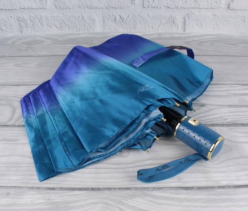Красивый качественный складной зонт полуавтомат popular 423-2р...