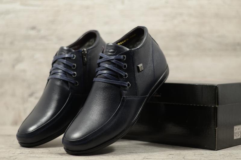 Натуральная кожа мужские кожаные зимние ботинки премиум качество