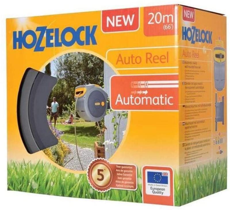 Катушка Hozelock со шлангом 20 м, желтый / серый - Фото 6