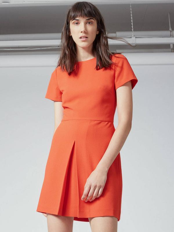 Оранжевое мини -платье  warehouse