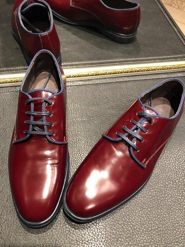 Бордовые туфли -дерби  от andre.