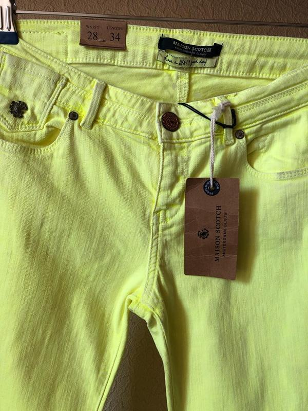 Яркие джинсы maison scotch .оригинал - Фото 5