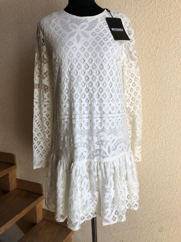 Нежное кремовое платье от missguided