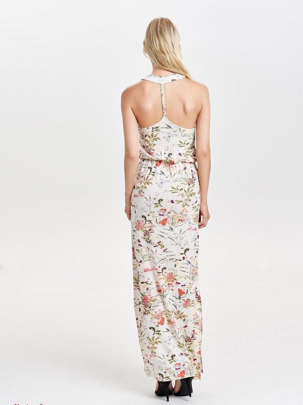 Длинное летнее платье макси в цветочный принт only l