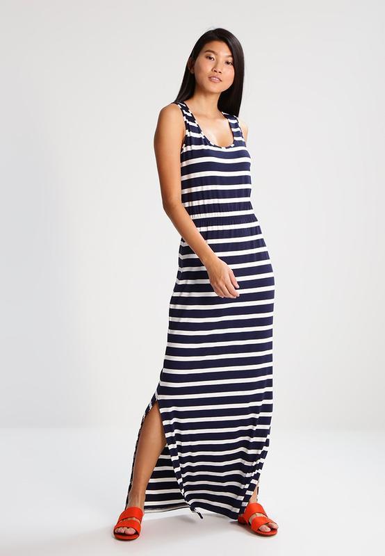 Платье тельняшка в морскую полоску длинное макси cortefiel xl