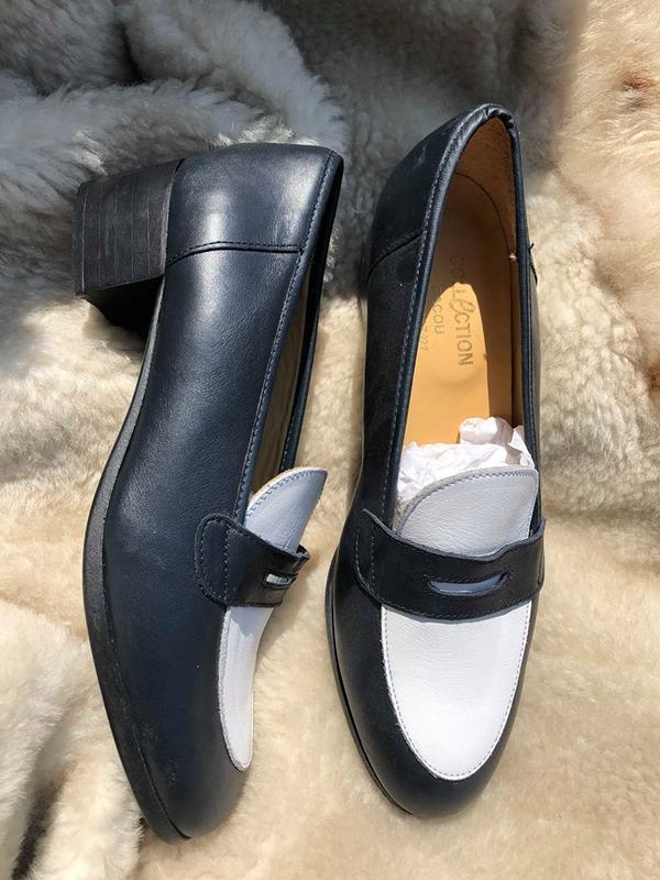 Туфли удобные на низком каблуке от сollection bacou (франция)