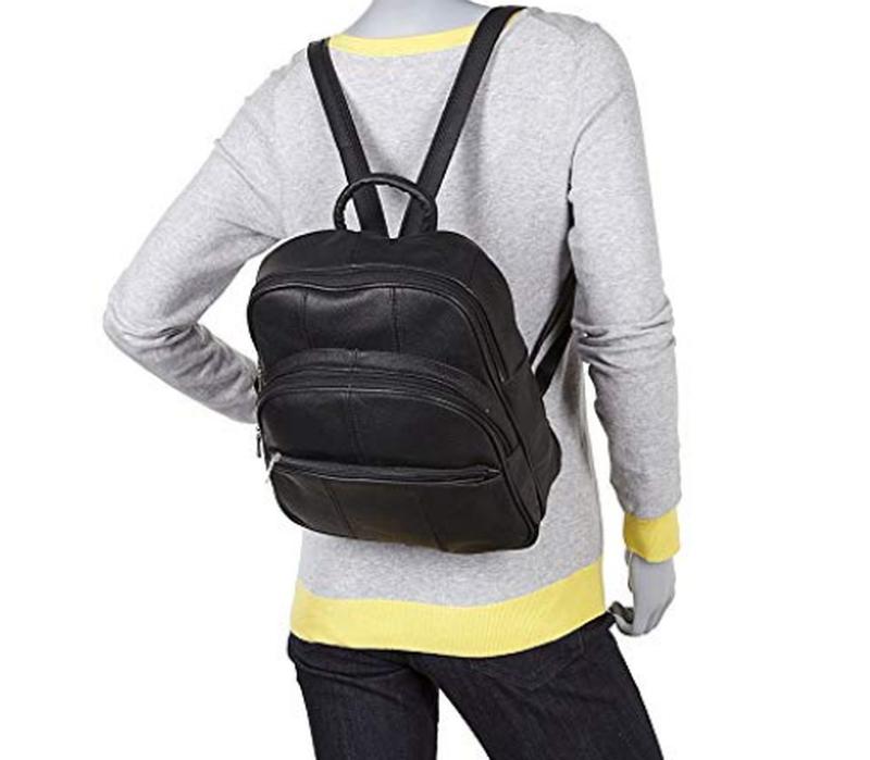 Кожаный  рюкзак на молнии r & r collections