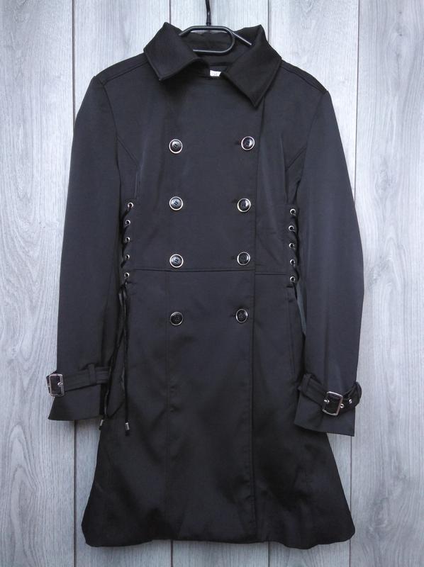 🔥акция 1+1=3🔥jacqueline riu пальто демисезонное стильное сбоку...