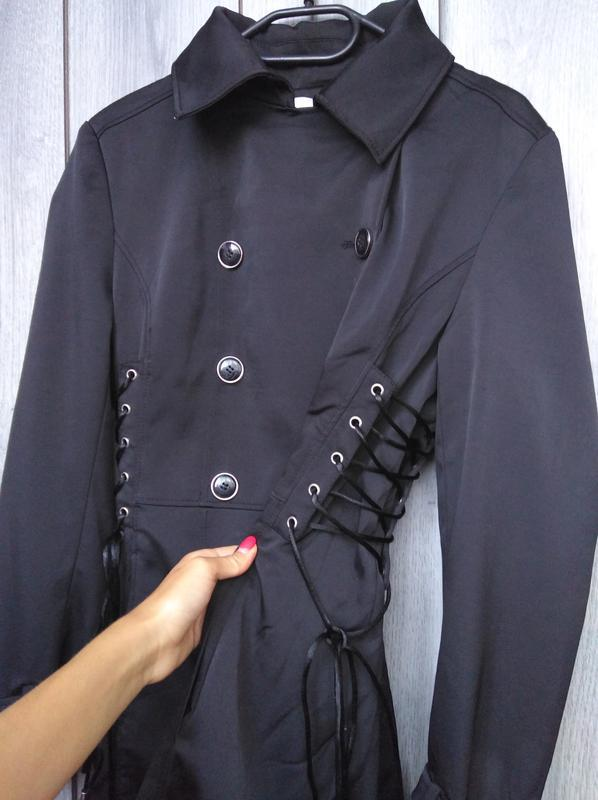 🔥акция 1+1=3🔥jacqueline riu пальто демисезонное стильное сбоку... - Фото 2