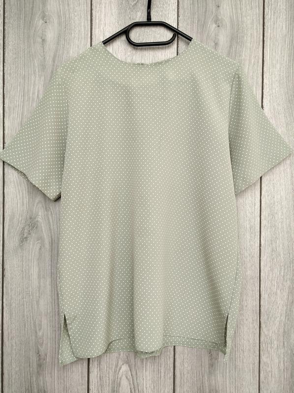 🔥акция 1+1=3🔥блузка блуза нежного цвета в горошек размер l 12 40