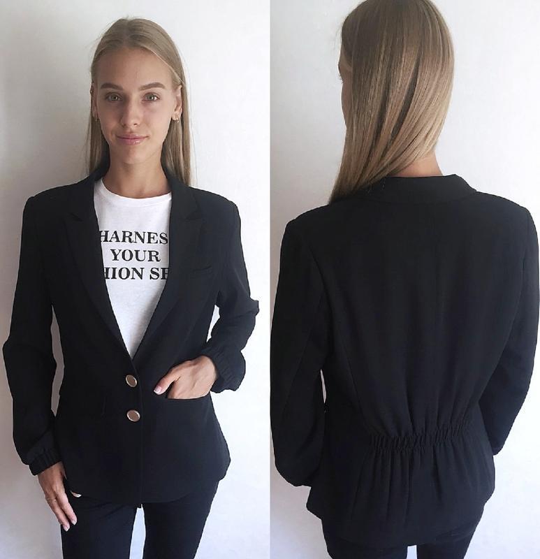 🔥акция 1+1=3🔥plus fine блейзер пиджак жакет черный модный m 38 10