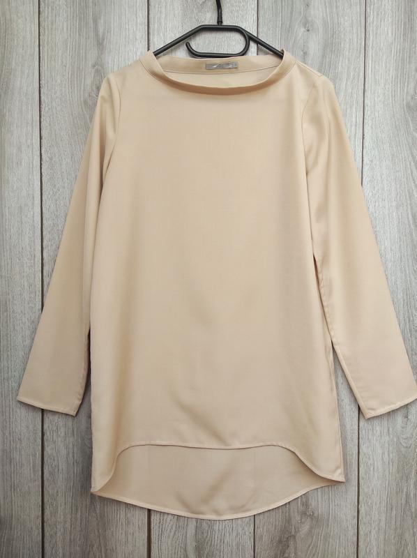 Cos блузка блуза удлиненная телесного бежевого цвета s 36 8