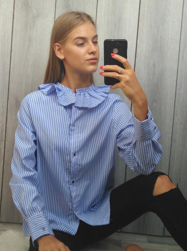 🔥акция 1+1=3🔥шикарная рубашка стильная в полоску размер s/m