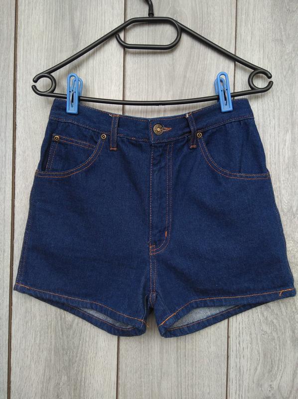 🔥акция 1+1=3🔥джинсовые шорты с высокой посадкой темно синие 10...