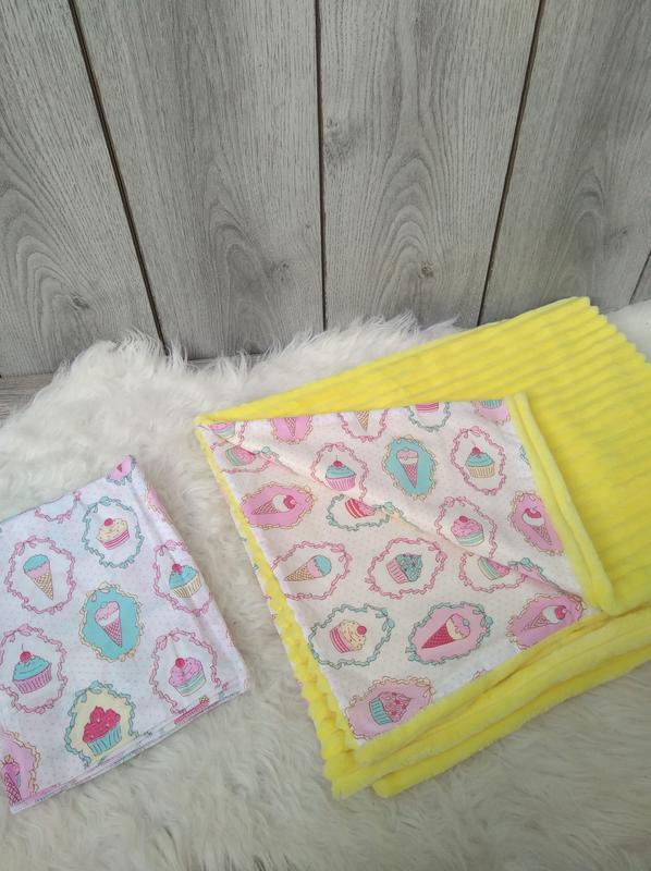 Новый minky минки плюш плед конверт одеяло мягкое жёлтое с рис...