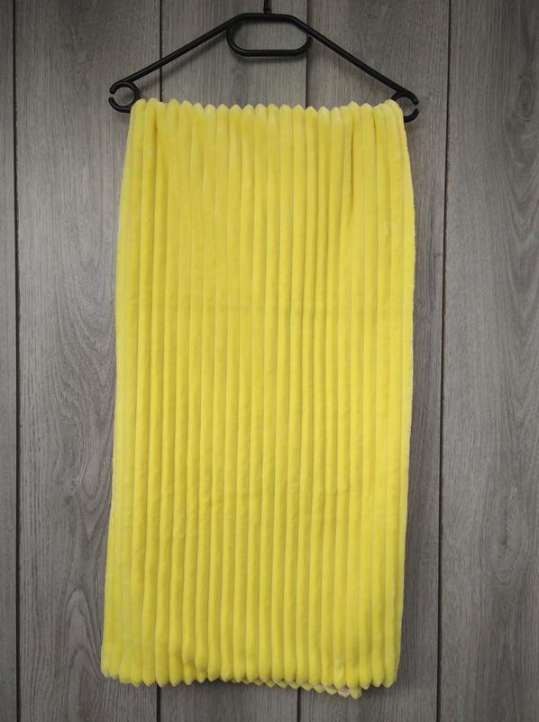 Новый minky минки плюш плед конверт одеяло мягкое жёлтое с рис... - Фото 6