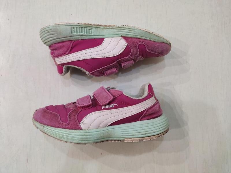 Puma розовые кроссовки для девочки