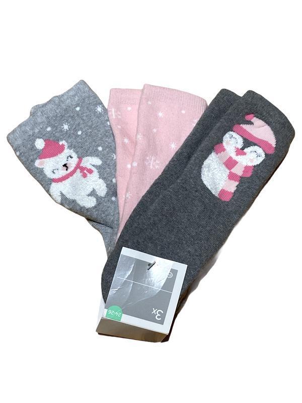 Комплект 3 пары. детские тёплые махровые хлопковые носочки c&a...