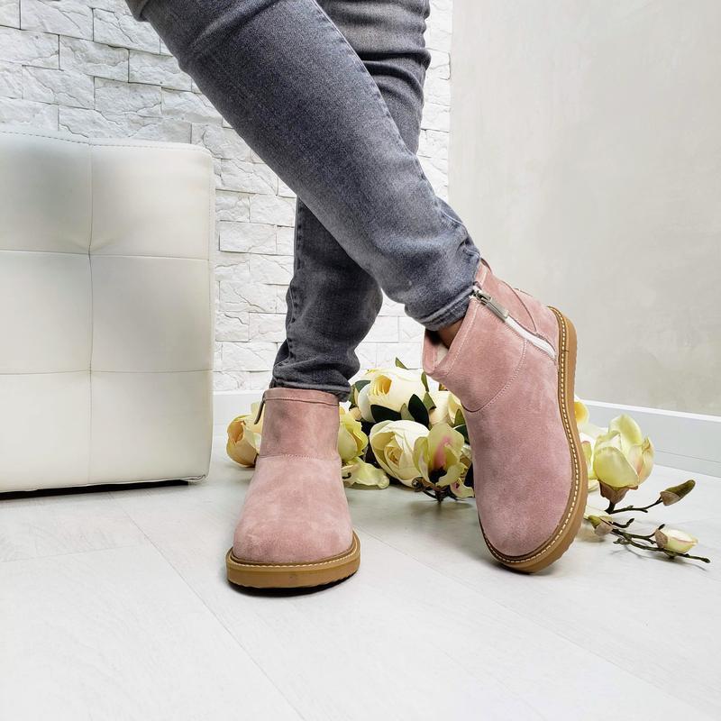 Угги натуральная замша р30-42 ботинки сапоги уггі натуральна з...
