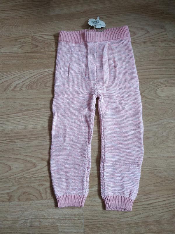 Вязаные штанишки lupilu германия на девочку 1-2 года