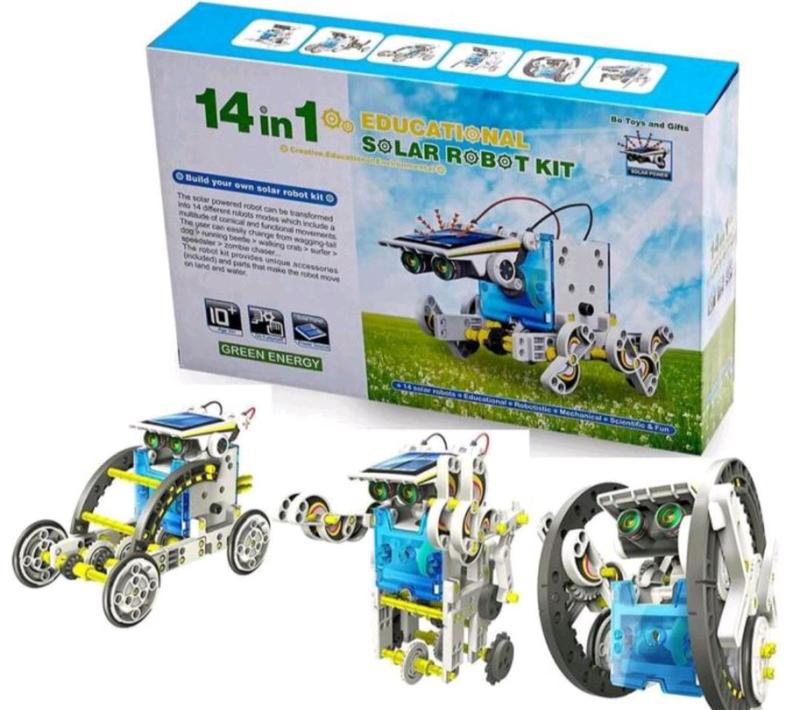 Конструктор Solar Robot 14в1 на солнечных батареях
