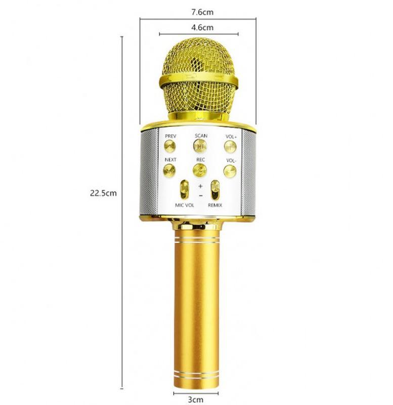 Караоке микрофон Bluetooth беспроводной Wster WS 858 - Фото 2