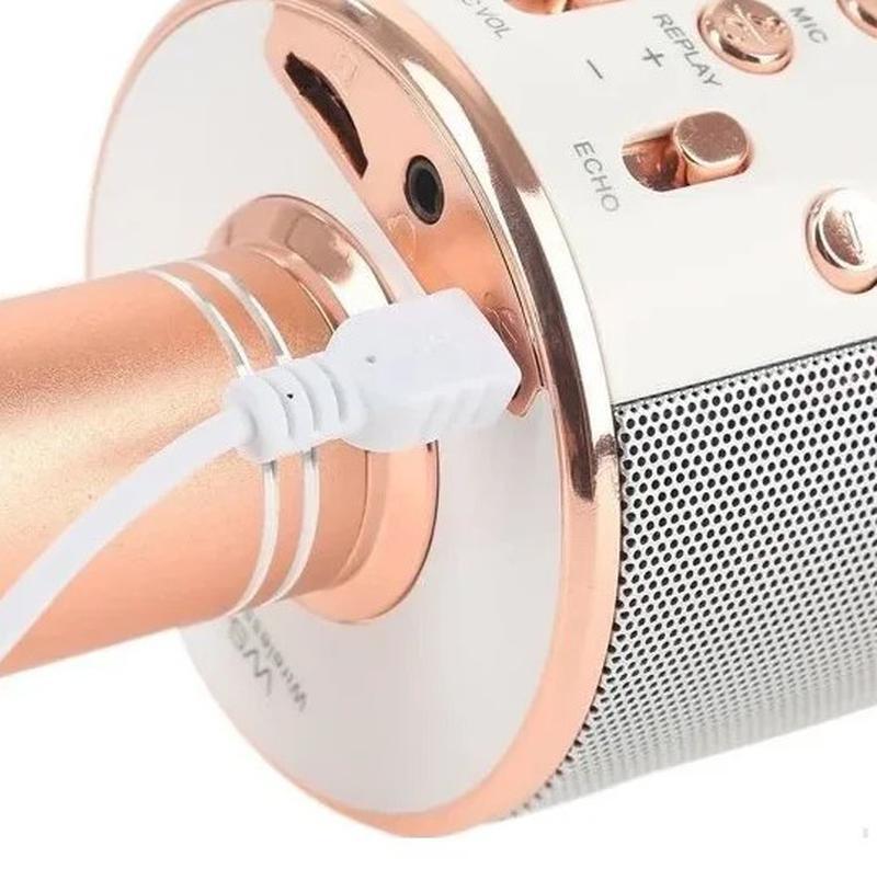 Караоке микрофон Bluetooth беспроводной Wster WS 858 - Фото 6