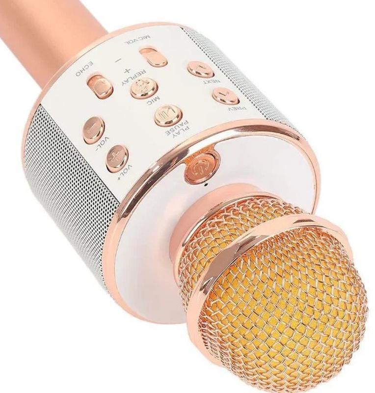 Караоке микрофон Bluetooth беспроводной Wster WS 858 - Фото 4