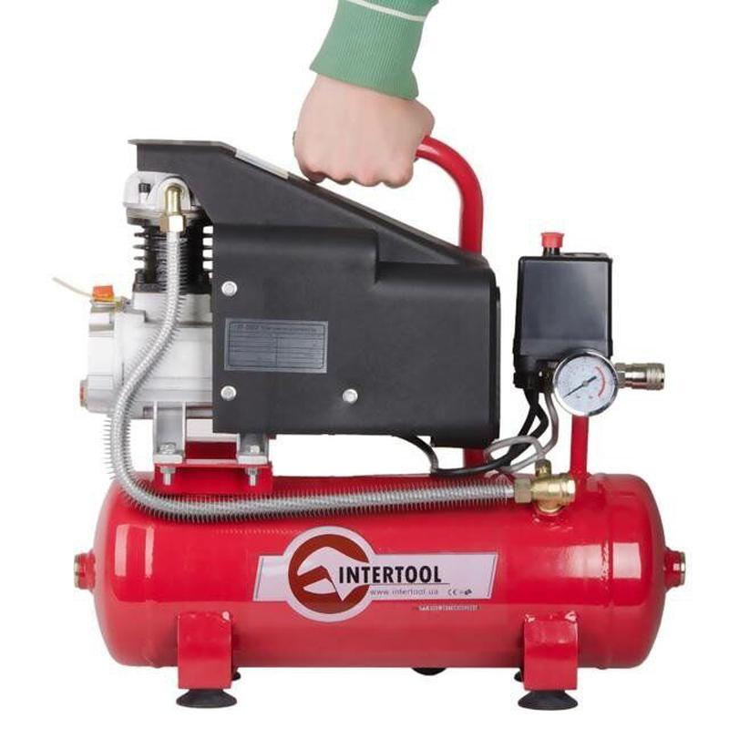 Компрессор INTERTOOL PT-0002 (9 л, 0.75 кВт, 220В, 8атм, 160 л/м)