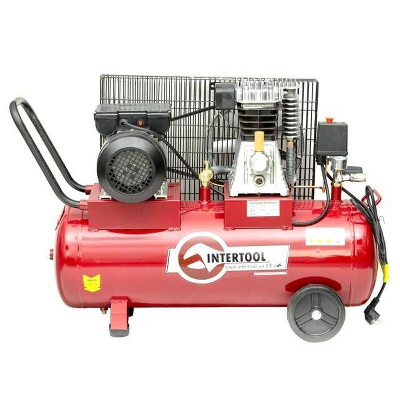 Компрессор INTERTOOL PT-0011 (50 л, 1.8кВт, 220В, 8 атм, 233 л/м)